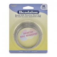 Beadalon wrapping wire Rostfreiem Stahl 26Gauge Bight Stainless Steel