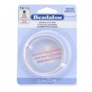 Beadalon German Style Wire 16Gauge round Silver