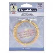 Beadalon German Style Wire 20Gauge round Gold