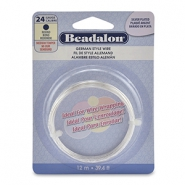 Beadalon German Style Wire 24Gauge round Silver