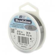 Beadalon Schmuckdraht 49 Stränge 0.38mm Bright Stainless Steel