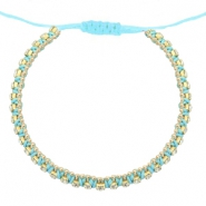 Armbänder Strass Light turquoise blue-crystal