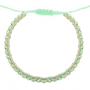 Armbänder Strass Light turquoise green-crystal