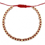 Armbänder Strass Cherry red-crystal