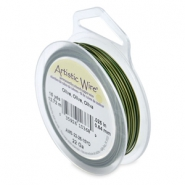 22 Gauge Artistic Wire Olive green