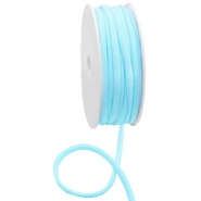 Gestepptes Elastisches Band Ibiza Light turquoise blue