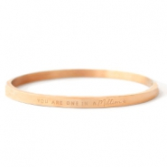 "Armbänder aus Stainless Steel - Rostfreiem Stahl ""YOU ARE ONE IN A MILLION"" Rosegold"