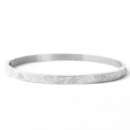 Armbänder aus Stainless Steel - Rostfreiem Stahl Tropical Leaves Silber