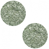 12 mm flach Cabochon Polaris Elements Goldstein Chinois green grey