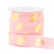 Elastisches Band Unicorn Light pink