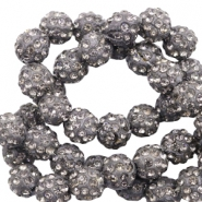 Strass Perlen 8mm Anthracite