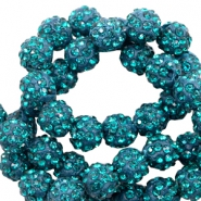 Strass Perlen 10mm Teal blue