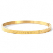 "Armbänder aus Stainless Steel - Rostfreiem Stahl ""YOU ARE THE STAR IN MY SKY"" Gold"
