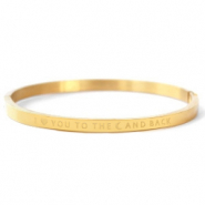"Armbänder aus Stainless Steel - Rostfreiem Stahl ""I LOVE YOU TO THE MOON AND BACK"" Gold"