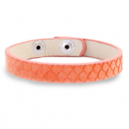 Armbänder Snake Living coral red