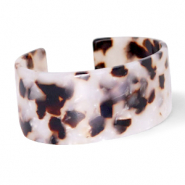 Armbänder Resin Off white-brown