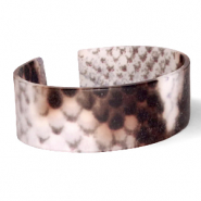 Armbänder Resin Snake matt Brown-grey