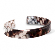 Armbänder Resin loose fit Snake shiny Brown-grey