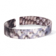 Armbänder Resin loose fit Snake matt Blue-brown
