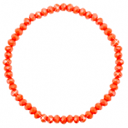Top Facett Glas Armbänder 4x3mm Coral orange-pearl shine coating
