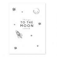 Schmuck Karten 'I love you to the moon and back' White