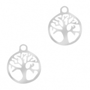 Stainless Steel - Rostfreiem Stahl Anhänger Tree of Life 10mm Silber