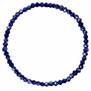 Facett Glas Armbänder 4x3mm Evening blue-pearl shine coating