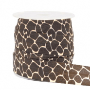 Elastisches Band Giraffe Brown