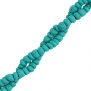 Kokos Perlen Disc 4mm Viridian green