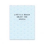 "Schmuck Karten ""life's a beach…"" Light blue"