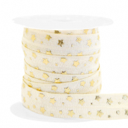 Elastisches Band Stern Silk white-gold