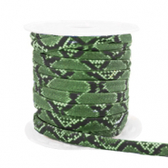 Gestepptes Elastisches Band Snake Green