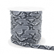 Gestepptes Elastisches Band Snake Grey