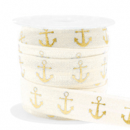 Elastisches Band Anker Silk white-gold