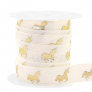 Elastisches Band Unicorn Silk white-gold