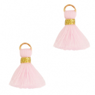 Perlen Quaste 1.5cm Gold-light pink