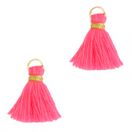 Perlen Quaste 1.5cm Gold-hot pink