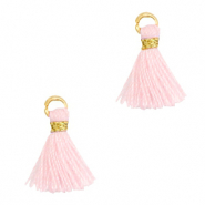 Perlen Quaste 1cm Gold-light pink