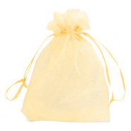 Schmuckbeutel Organza 13x18cm Golden yellow