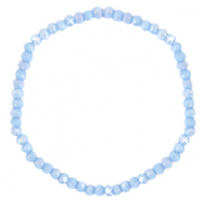 Facett Glas Armbänder 4x3mm Lavender blue-pearl shine coating
