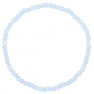 Facett Glas Armbänder 3x2mm Ice blue-pearl shine coating