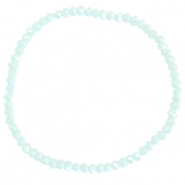 Facett Glas Armbänder 3x2mm Clearwater blue-pearl shine coating