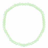 Facett Glas Armbänder 4x3mm Paradise green-pearl shine coating