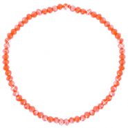 Facett Glas Armbänder 3x2mm Spicy orange-pearl shine coating