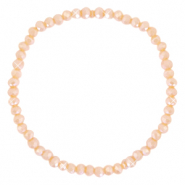 Facett Glas Armbänder 4x3mm Peach orange-pearl shine coating