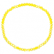 Facett Glas Armbänder 3x2mm Blazing yellow-pearl shine coating