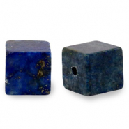 4 mm Naturstein Perlen Square Dark blue