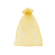 Schmuckbeutel Organza 9x12cm Golden yellow