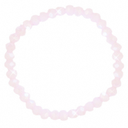 Facett Glas Armbänder 6x4mm Light pink-pearl shine coating