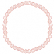 Facett Glas Armbänder 6x4mm Light rose-pearl shine coating